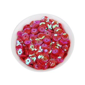 6.5mm Opal red pink sequins - Crafty Wizard