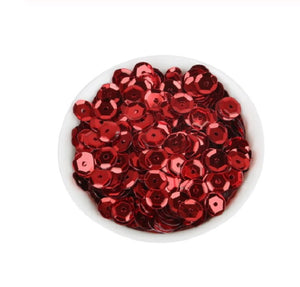 6.5mm Red sequins - Crafty Wizard