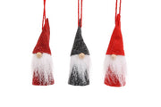 3 Felt Hanging Santas - Crafty Wizard