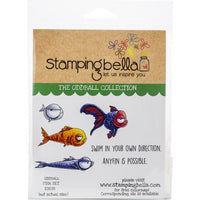 Stamping Bella - Oddball Fish Set - Rubber Stamp Set - Crafty Wizard