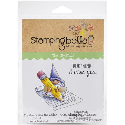 Stamping Bella  - The Gnome and the Letter - Rubber Stamp Set - Crafty Wizard
