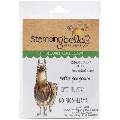 Stamping Bella - Oddball Llama - Rubber Stamp Set - Crafty Wizard