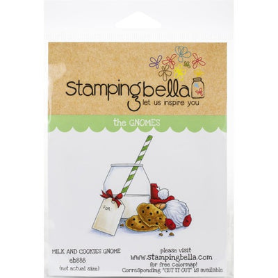 Stamping Bella  - Milk and cookies gnome - Rubber Stamp Set - Crafty Wizard