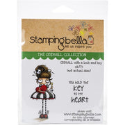 Stamping Bella - Oddball with lock and key - Rubber Stamp Set - Crafty Wizard