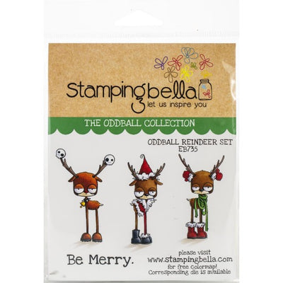 Stamping Bella - Oddball Reindeer Set - Rubber Stamp Set - Crafty Wizard