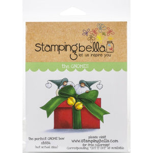 Stamping Bella  - The perfect gnome bow - Rubber Stamp Set - Crafty Wizard