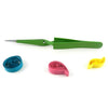 Self locking steel quilling tweezers