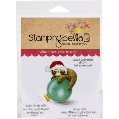 Stamping Bella - Sloth Ornament- Rubber Stamp Set