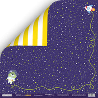 "12"" x 12"" paper pad - Ticket to the Moon - Crafty Wizard"
