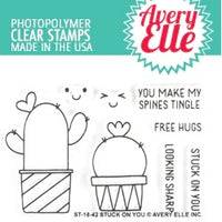 Avery Elle - Stuck on you - Clear Stamp Set - Crafty Wizard