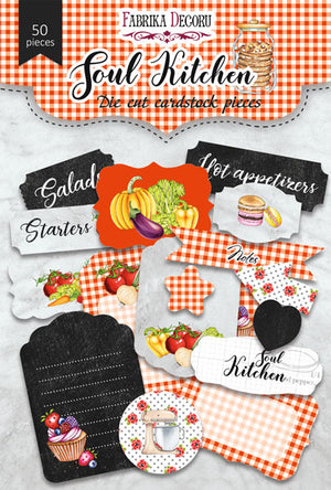 50pcs Soul Kitchen die cuts