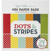 "6"" x 6"" paper pad - Summer Dots & Stripes 2 - Crafty Wizard"