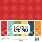 "12"" x 12"" paper pad - Summer Dots & Stripes"