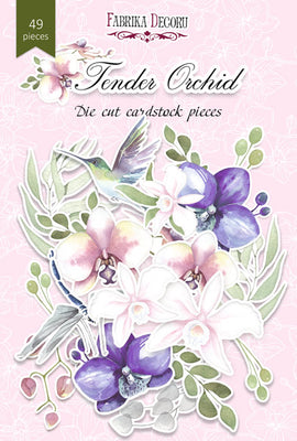 49pcs Tender Orchid die cuts - Crafty Wizard