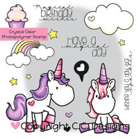 C.C. Designs - Unicorn Dreams - Clear Stamps Set - Crafty Wizard