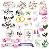 65pcs Wedding of our dream die cuts - Crafty Wizard