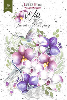 49pcs Wild Orchid die cuts - Crafty Wizard