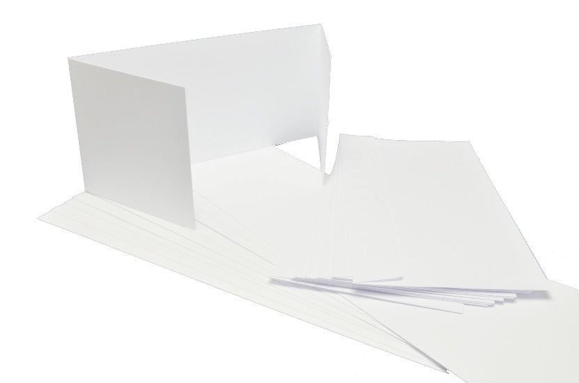 GoatBox 9.9cm x 21cm window style card base with envelopes - matte white - Crafty Wizard
