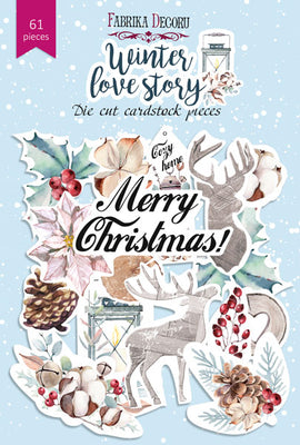 61pcs Winter Love Story die cuts - Crafty Wizard