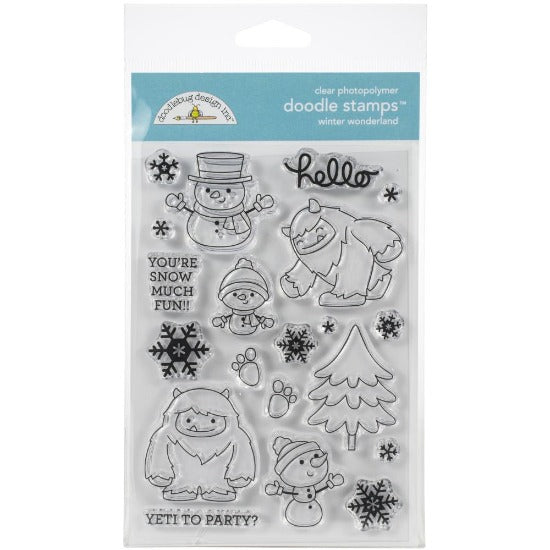 Doodlebug Design Inc - Winter Wonderland - Clear Stamp Set - Crafty Wizard