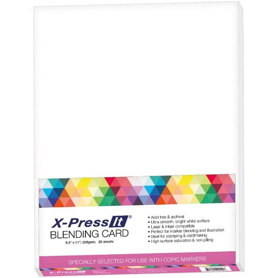 "A4 X-Press It - Blending Card 8.5"" x 11"" - Crafty Wizard"