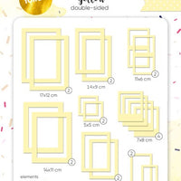 39pcs Gold Foil Yellow Photo Frames