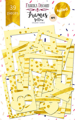 39pcs Gold Foil Yellow Photo Frames - Crafty Wizard