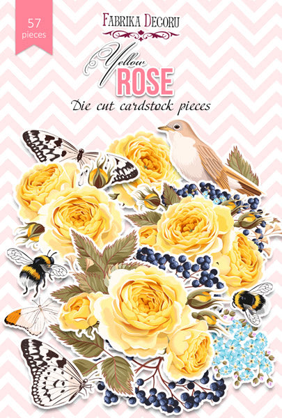 57pcs Yellow Rose die cuts - Crafty Wizard