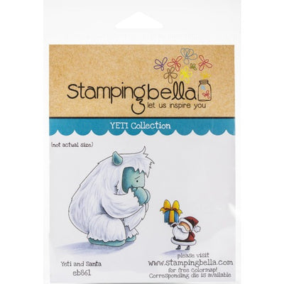 Stamping Bella  - Yeti and Santa - Rubber Stamp Set - Crafty Wizard