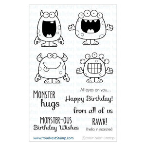 Your Next Stamp - Silly Monsters - Clear Stamp Set - Crafty Wizard