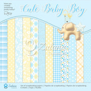 "12"" x 12"" paper pad - Cute Baby Boy - Crafty Wizard"