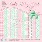 "12"" x 12"" paper pad - Cute Baby Girl - Crafty Wizard"