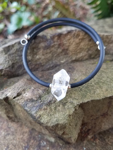 Clarity. Clear Quartz Crystal Bracelet. Chakra Gemstone Bangle Cuff. Crystal Energy Healing Jewelry.