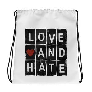Love and Hate - Drawstring bag