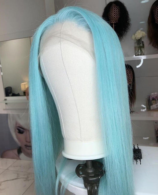 Icy Blue Or Blonde Color Full Lace Human Hair Wigs ®