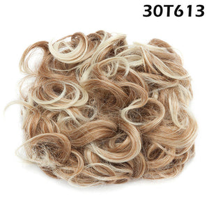 Synthetic Hair Big Bun Plastic Comb®