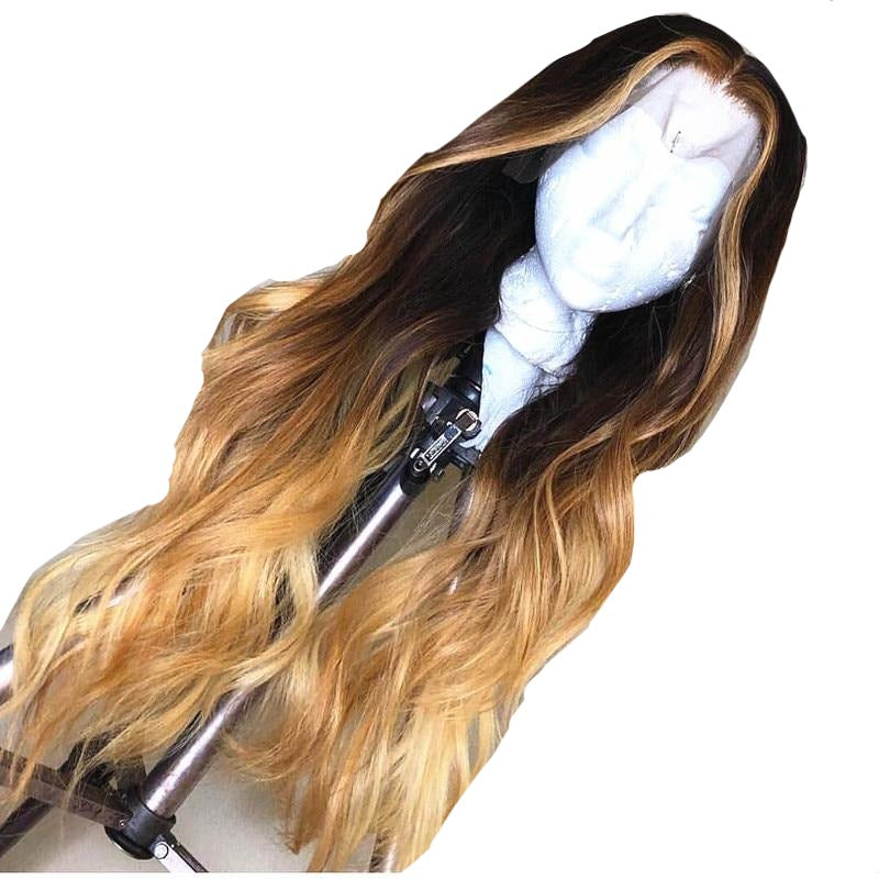 Body Wave Ombre Colored Human Hair Wigs