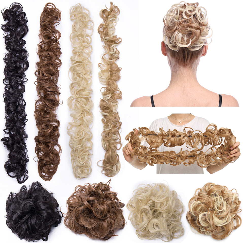 Elastic Band hair chignon Twining hair extension®