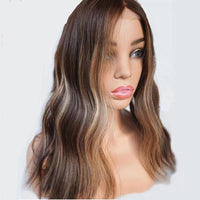 Brown And Blonde Highlight Wig ®