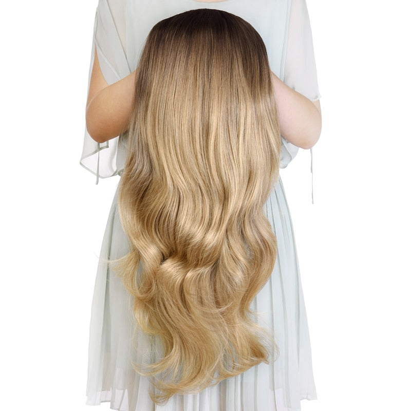 "24"" Wavy 3/4 Ladies Half Wig Clip in Hair®"