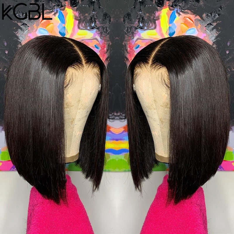 "Middle Ratio 8""-16"" Human Hair Wigs®"