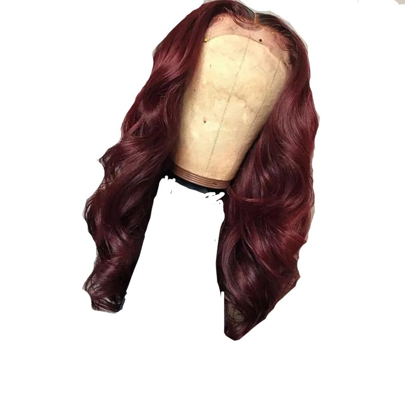 Red Lace Front Human Hair Wig®