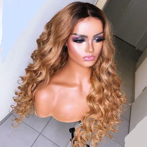 Curly brownish Hair Wig ®