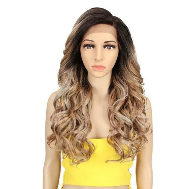 Synthetic Wig Long Wavy 22 Inch Wigs ®