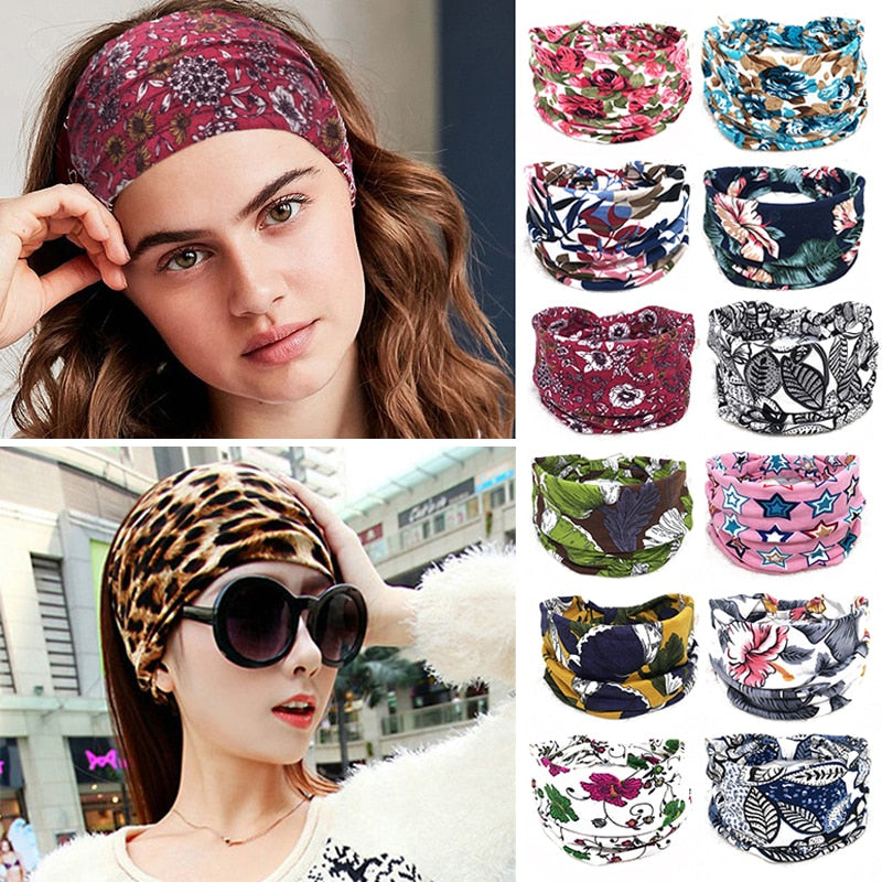 Cotton Elastic Turban Knot Hairband ®