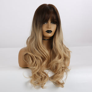 Long Natural Wavy Blonde Wigs ®