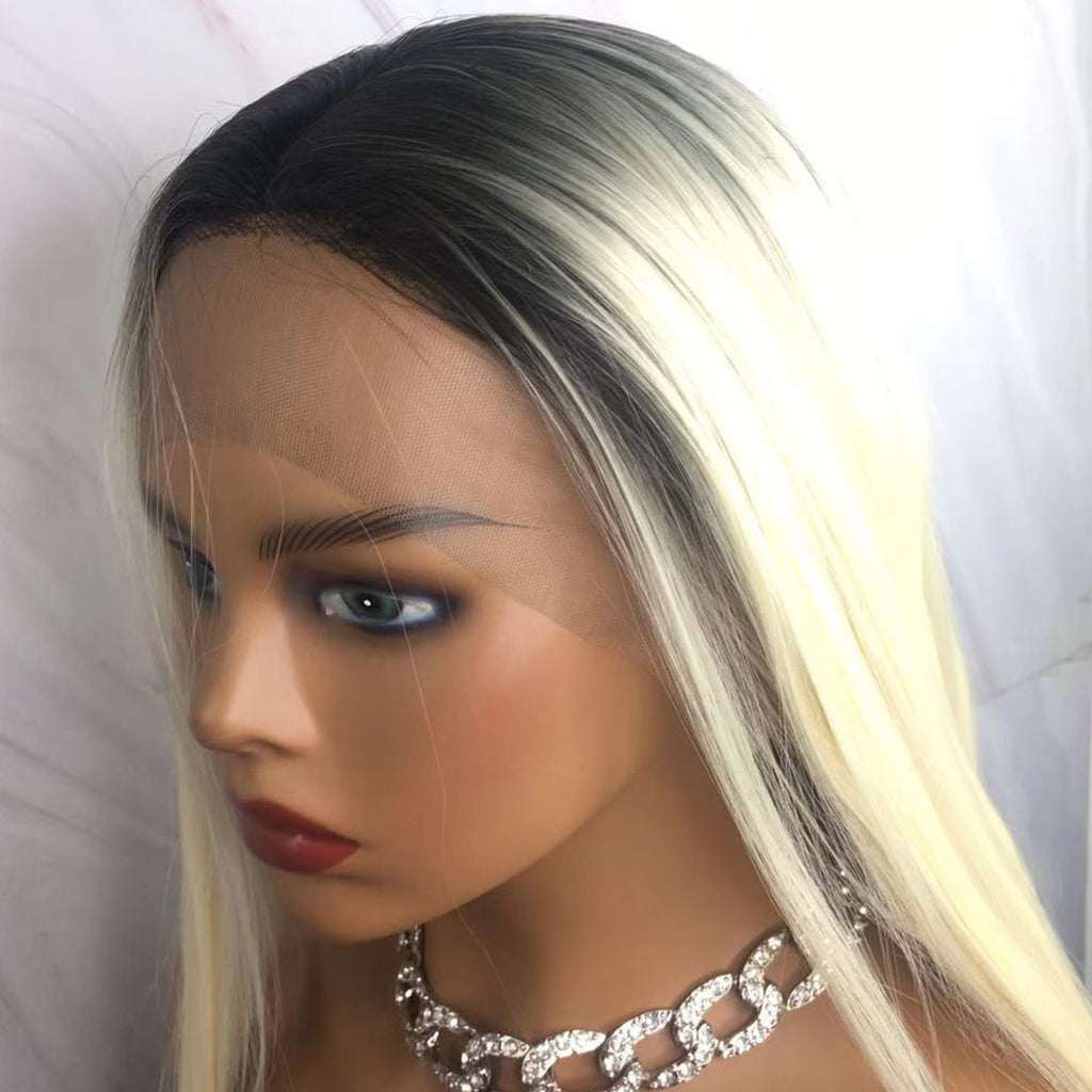 Shades of Blonde | Blonde Synthetic Lace Front Straight Wig (13x4 Inch Lace Front)