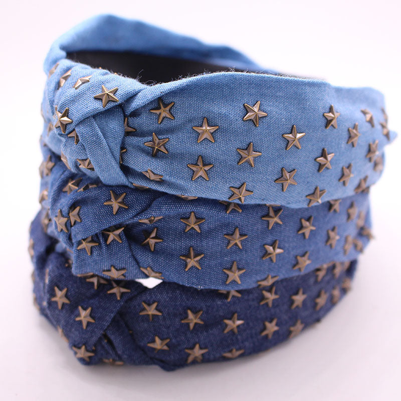 Metal Star Stamping Knotted Headband ®