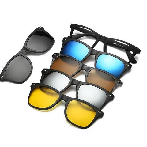 5-in-1 Interchangeable Magnetic Sunglasses