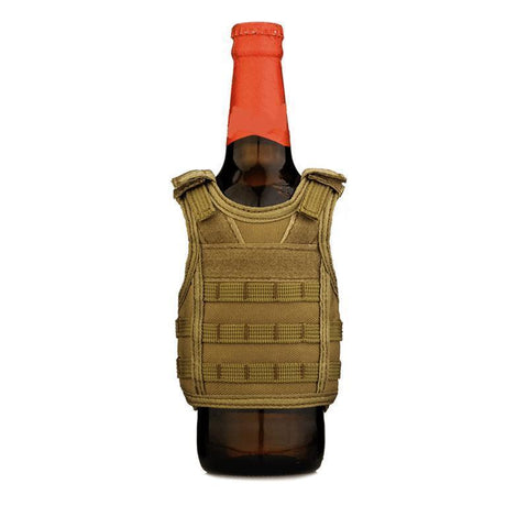 tactical molle vest beer koozie